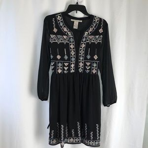 American Rag native embroidered pattern dress